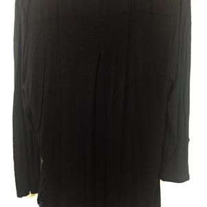 Lucky Brand Tops - Lucky Brand Black Embroider Blouse Size XL